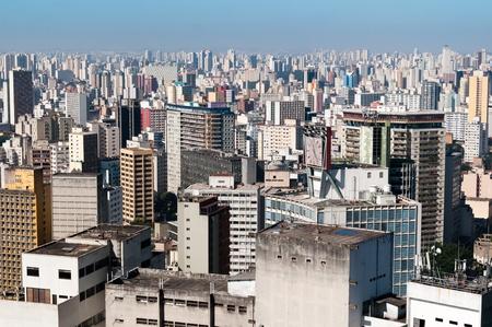 aerial view city: Aerial view city of sao paulo Stock Photo