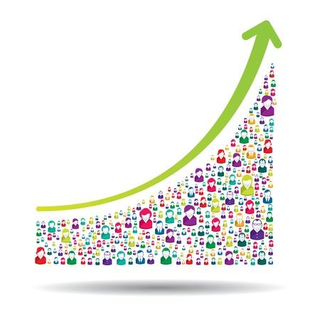 成長チャートと成功につながる prgresso