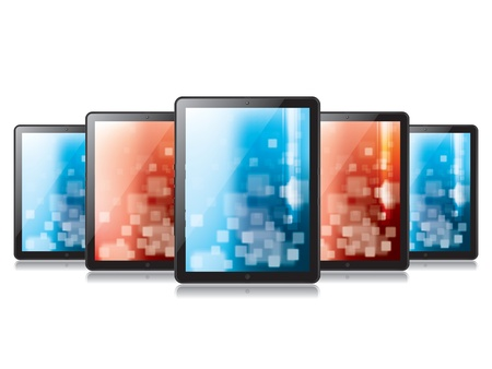 electronic organizer: Digital tablet in illustration Illustration
