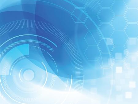 technológia: elvont technológiai háttér hatszög Illusztráció