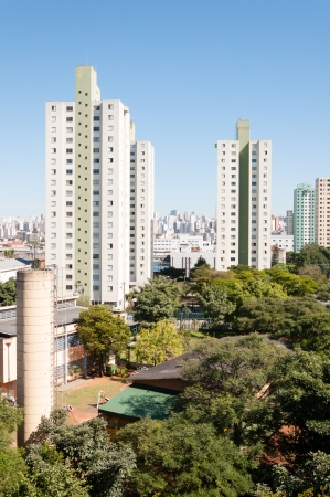 View of buildings in the residential area Bras de Sao Paulo, Brazil photo
