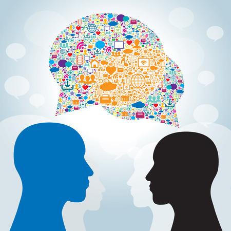 Comunicación empresarial Estrategia en redes sociales Foto de archivo - 25777755