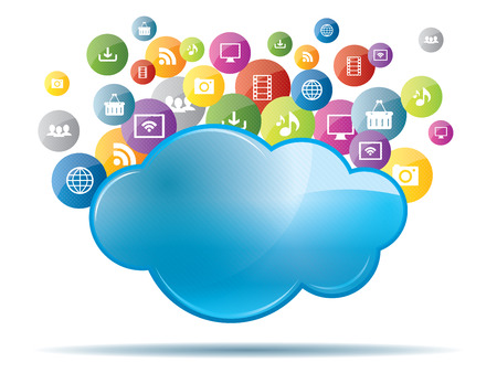 Concept of cloud computing and file sharing