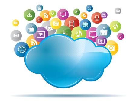 Concept de cloud computing et le partage de fichiers Banque d'images - 25778306