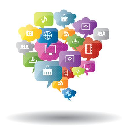 iconos de m�sica: red social, el intercambio y la seguridad en la Internet