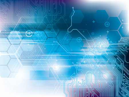 Background of  futuristic technology with integrated circuit