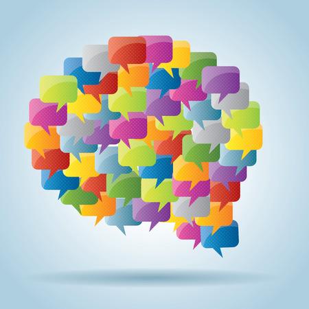 bubble speech: bubble of communication  with speech bubble icons  Illustration