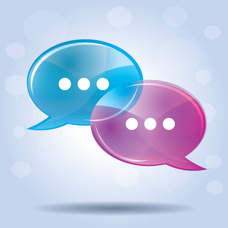 chat icon: speech bubble for comunication in illustration vector Illustration