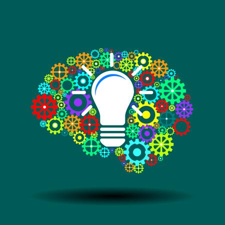 human brain with strategic thinking and innovative ideas Illustration
