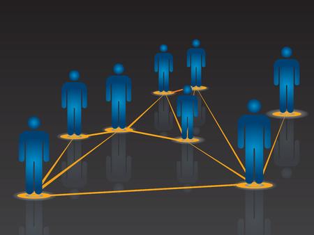 internet network:  vector illustration of global Internet communication in a social network