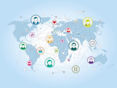 delen en relaties in sociale netwerken en internet