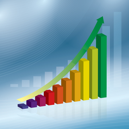 graphs and charts: Business data market charts diagrams and graphs  in vector illustration.