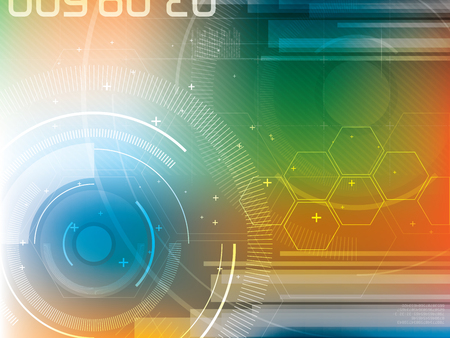 technology background: Abstract background of futuristic technology