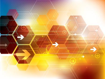 Résumé de fond de technologie futuriste Banque d'images - 41033145