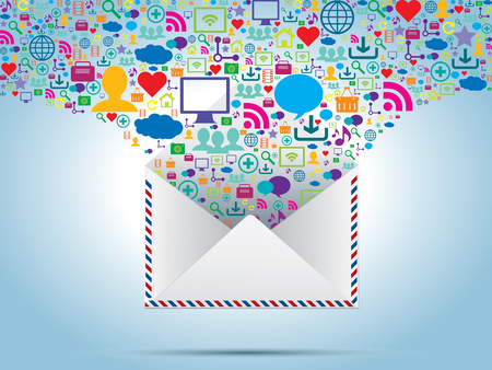 file sharing: communication and file sharing by e-mail message in business