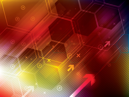 technology abstract background: abstract technology background with hexagons
