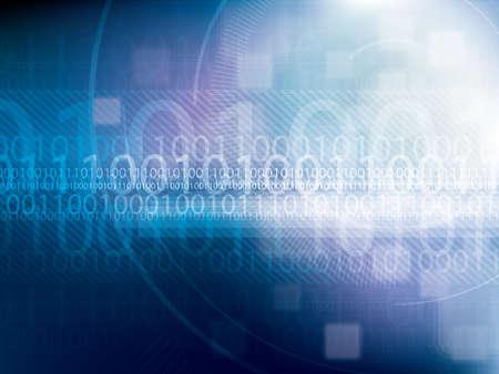 tecnologia sfondo astratto con esagoni e codice binario Vettoriali
