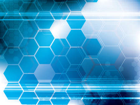business software: abstract technology background with hexagons