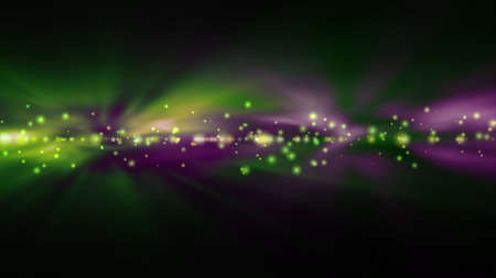 futuristic background: Futuristic abstract technology background with bright green and purple lights blurred Stock Photo