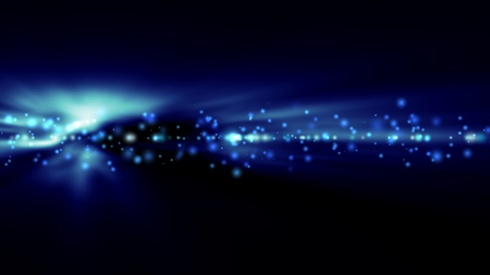 Futuristic abstract technology background with bright blue lights blurred