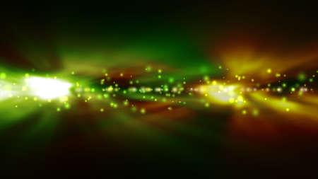 green backgrounds: Futuristic abstract technology background with bright green and yellow lights blurred