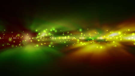 yellow green: Futuristic abstract technology background with bright green and yellow lights blurred