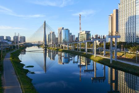 Sao Paulo Brazil Octavio Frias de Oliveira Bridge - Estaiada Bridge