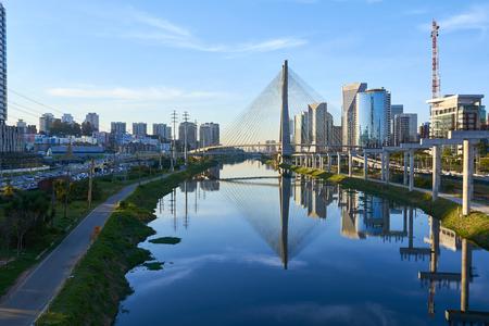 Estaiada Bridge Sao Paulo Brazilië Stockfoto - 65869743