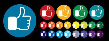 Thumb up like concept feedback