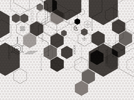 Abstract vector background avec des formes de technologie futuriste en illustration créative. Banque d'images - 74799932