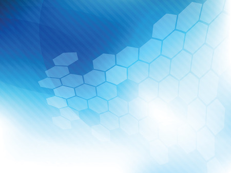 Technology background blue futuristic abstract  in digital vector with hexagon.