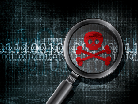 Virus computer infected bug software in vector Illustration
