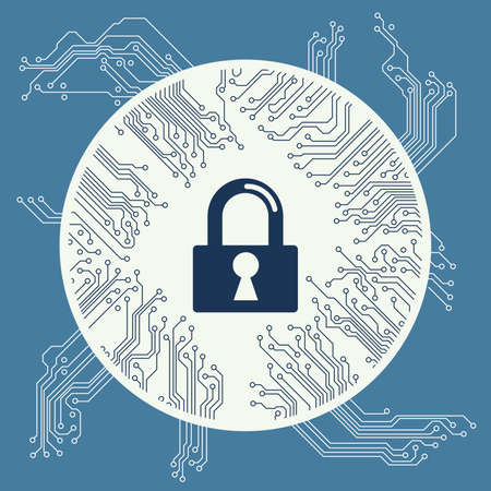 safe lock: Cyber security design vector illustration graphic Illustration