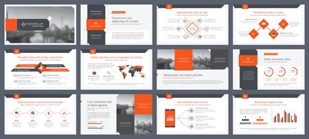プレゼンテーションテンプレートのインフォグラフィックスの要素。アニュアルレポート、リーフレット、ブックカバーデザイン。パンフレットレ