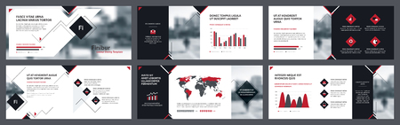 Elements of infographics for flyer template, brochure template and banner templates. Corporate prospectus, flyer leaflet, booklet design, brochure and banner template design. Vector Illustration.