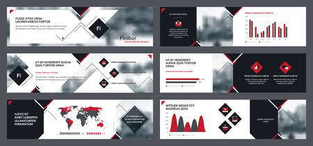 Collection internet banners templates for business communication. Elements of infographics for internet banner template, flyer template and presentations templates design. Vector Illustration.