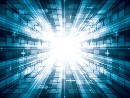 Virtual tecnology vector background