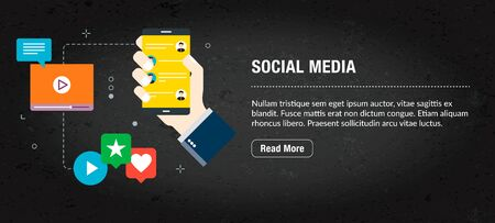 Web banner for digital marketing or online advertising in web page, internet ad, social media or mobile app. Web banner with icons of business, finance, strategy, technology and planning. Archivio Fotografico - 131663646