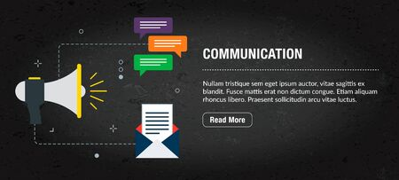Web banner for digital marketing or online advertising in web page, internet ad, social media or mobile app. Web banner with icons of business, finance, strategy, technology and planning. Archivio Fotografico - 131663918