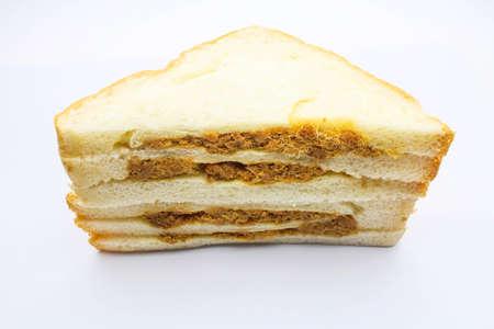 sandwish: An isolated sandwish on white background
