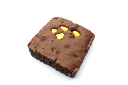 An isolated Brownie on white background photo