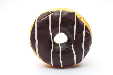 An isolated doughnut on white background photo