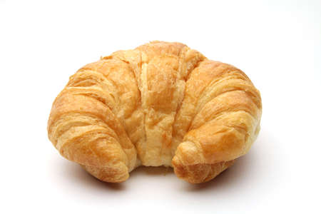 An isolated croissant on white background photo