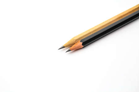 An isolated pencil on white background