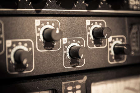 Recording Audio Equipment in recording studio photo