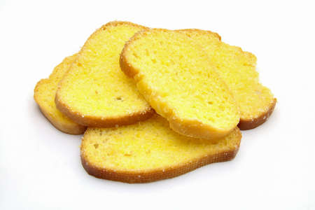 An isolated butter bread toast on white background photo