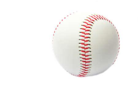 Baseball ball on a white background photo