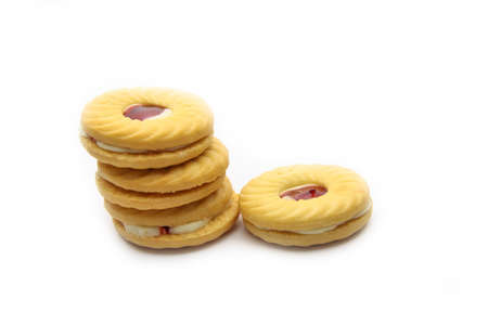 An isolated cookie on white background photo