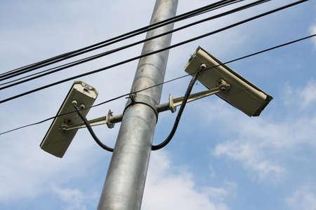 A CCTV on a sunny day photo
