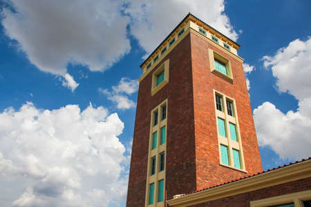 An Old brick building with blue sky